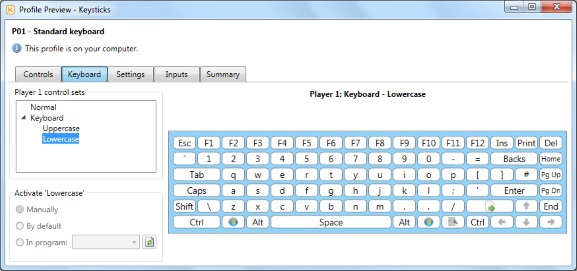 Qwerty keyboard - Lowercase preview
